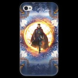 """Чехол для iPhone 4 глянцевый, с полной запечаткой """"Доктор Стрэндж"""" - marvel, doctor strange, доктор стрэндж, мстители, марвел"""