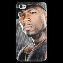 """Чехол для iPhone 4 глянцевый, с полной запечаткой """"iPhone 50 Cent """" - 50 cent, 50cent, фифти"""