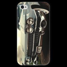 """Чехол для iPhone 4 глянцевый, с полной запечаткой """"Cadilac Eldorado"""" - стиль, old school, автомобили"""