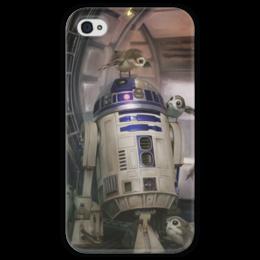 """Чехол для iPhone 4 глянцевый, с полной запечаткой """"Звездные войны - R2-D2"""" - звездные войны, фантастика, кино, дарт вейдер, star wars"""