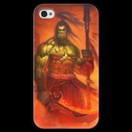 """Чехол для iPhone 4 глянцевый, с полной запечаткой """"WarCraft Collection"""" - wow, dota, warcraft, world of warcraft, варкрафт"""
