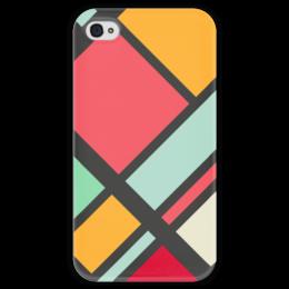"""Чехол для iPhone 4 глянцевый, с полной запечаткой """"Модерн"""" - узор, стиль, орнамент, абстракция, модерн"""
