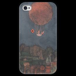 """Чехол для iPhone 4 глянцевый, с полной запечаткой """"Воздушный шар"""" - картина, клее"""