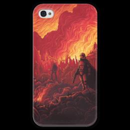 """Чехол для iPhone 4 глянцевый, с полной запечаткой """"Звездные войны"""" - звездные войны, фантастика, кино, дарт вейдер, star wars"""