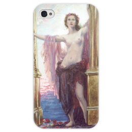 """Чехол для iPhone 4 глянцевый, с полной запечаткой """"Ворота Рассвета"""" - картина, дрейпер"""
