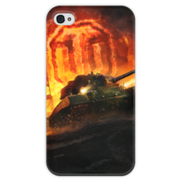 "Чехол для iPhone 4 глянцевый, с полной запечаткой ""Worlds Of Tanks"" - геймер, world of tanks, танки, танки онлайн, танки игра"