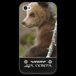 """Чехол для iPhone 4 глянцевый, с полной запечаткой """"Дух Севера"""" - природа, свобода, охрана природы, путь воина, дух севера"""