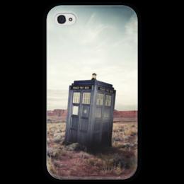 """Чехол для iPhone 4 глянцевый, с полной запечаткой """"Тардис (Доктор Кто) """" - doctor who, tardis, доктор кто, фандом, тардис"""