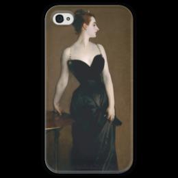"""Чехол для iPhone 4 глянцевый, с полной запечаткой """"Портрет мадам Икс"""" - картина, сарджент"""