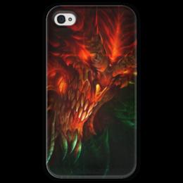 """Чехол для iPhone 4 глянцевый, с полной запечаткой """"Diablo III"""" - blizzard, diablo, диабло, близзард"""