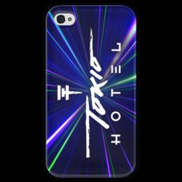 """Чехол для iPhone 4 глянцевый, с полной запечаткой """"Tokio Hotel"""" - tokio hotel"""