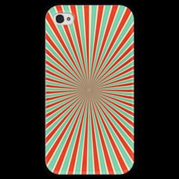 """Чехол для iPhone 4 глянцевый, с полной запечаткой """"Полосатый"""" - арт, узор, стиль, абстракция, орамент"""