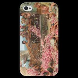 "Чехол для iPhone 4 глянцевый, с полной запечаткой ""Розы Гелиогабала (The Roses of Heliogabalus)"" - картина, альма-тадема"