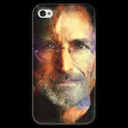 """Чехол для iPhone 4 глянцевый, с полной запечаткой """"Steve Jobs """" - apple, steve jobs, стив джобс"""