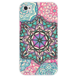 """Чехол для iPhone 4 глянцевый, с полной запечаткой """"Сладкая звезда."""" - арт, узор, stars"""