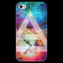 "Чехол для iPhone 4 глянцевый, с полной запечаткой ""30 Seconds To Mars"" - 30 seconds to mars, echelon, эшелон, i'm a dreamer"