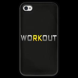 """Чехол для iPhone 4 глянцевый, с полной запечаткой """"Workout brazzers phone"""" - спорт, workout, brazzers, streetworkout"""