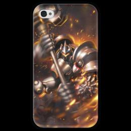 """Чехол для iPhone 4 глянцевый, с полной запечаткой """"Рейнхард"""" - blizzard, близзард, overwatch, овервотч, reinhardt"""