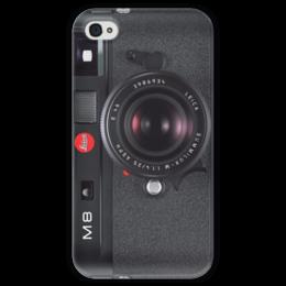 """Чехол для iPhone 4 глянцевый, с полной запечаткой """"Leica M8"""" - фотоаппарат, camera, leica, фоточехол iphone, iphone чехол фотоаппарат, фотокамера, m8"""