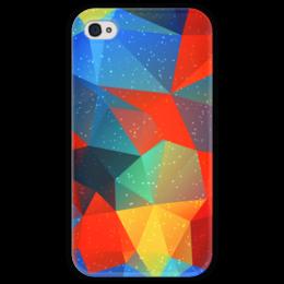 """Чехол для iPhone 4 глянцевый, с полной запечаткой """"Абстракция"""" - узор, стиль, рисунок, абстракция, абстрактный"""