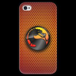 """Чехол для iPhone 4 глянцевый, с полной запечаткой """"Mortal Kombat (Cмертельная битва)"""" - файтинг, mortal kombat, cмертельная битва"""