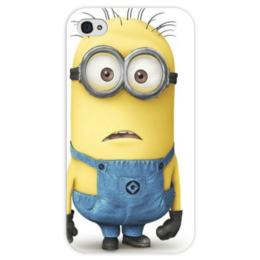 """Чехол для iPhone 4 глянцевый, с полной запечаткой """"Миньон"""" - funny, гадкий я, despicable me, minion, comedy"""