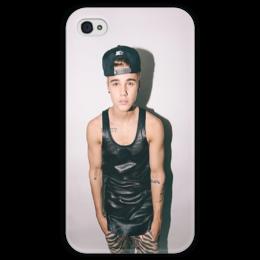 "Чехол для iPhone 4 глянцевый, с полной запечаткой ""Justin Bieber"" - style, swag, джастин бибер, believe"
