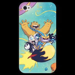 """Чехол для iPhone 4 глянцевый, с полной запечаткой """"Comics Art Series: Marvel"""" - рисунок, супергерои, марвел, superhero, танос"""