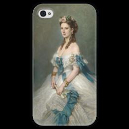 """Чехол для iPhone 4 глянцевый, с полной запечаткой """"Александра, принцесса Уэльская"""" - картина, винтерхальтер"""