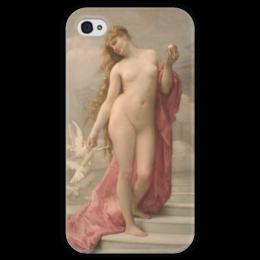 """Чехол для iPhone 4 глянцевый, с полной запечаткой """"Венера (картина Кабанеля)"""" - картина, кабанель"""