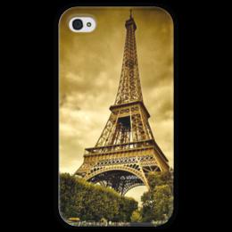 """Чехол для iPhone 4 глянцевый, с полной запечаткой """"Париж"""" - paris"""