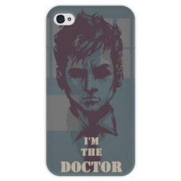 "Чехол для iPhone 4 глянцевый, с полной запечаткой ""Doctor Who"" - арт, фильмы, научная фантастика, доктор кто, drama, science fiction"