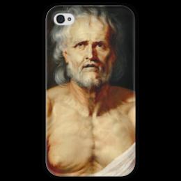 "Чехол для iPhone 4 глянцевый, с полной запечаткой ""Умирающий Сенека"" - картина, рубенс"