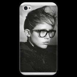 """Чехол для iPhone 4 глянцевый, с полной запечаткой """"miley cyrus"""" - miley, майли сайрус, майли, сайрус, miley cyrus, cyrus, смайлерс"""