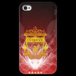 """Чехол для iPhone 4 глянцевый, с полной запечаткой """"Liverpool"""" - ливерпуль, liverpool, football club, футбольный клуб"""