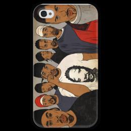 "Чехол для iPhone 4 глянцевый, с полной запечаткой ""wutangclan"" - hip hop, wu tang, rap, хип-хоп-, clan, new york"