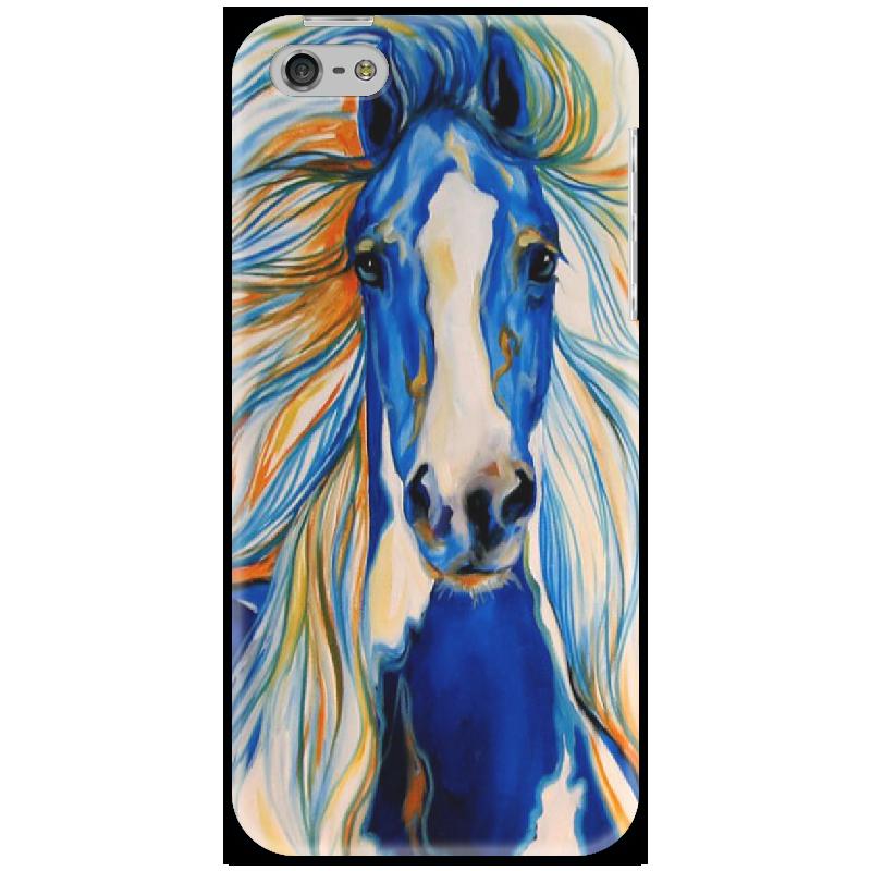 Чехол для iPhone 5 Printio 2014 blue horse боксмод sigelei fuchai 213w tc blue силик чехол