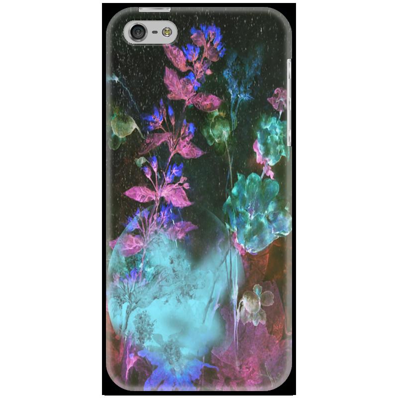 Чехол для iPhone 5 Printio Светящиеся цветы. ночь рижский рынок купить цветы ночью