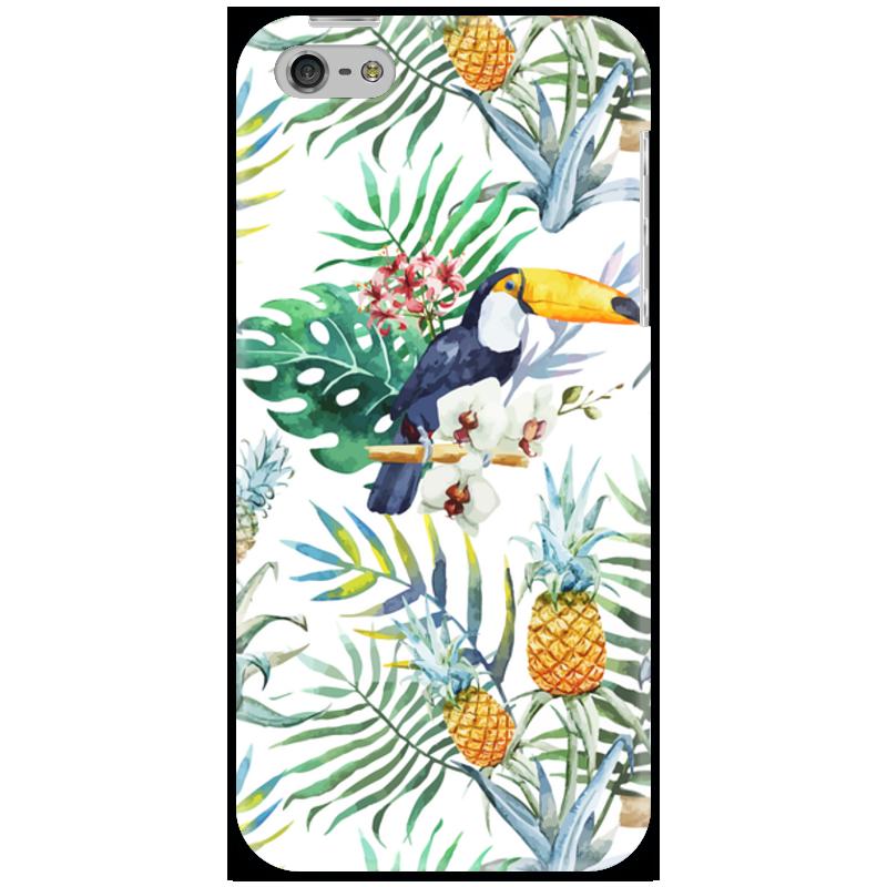 Чехол для iPhone 5 Printio Тропические птицы
