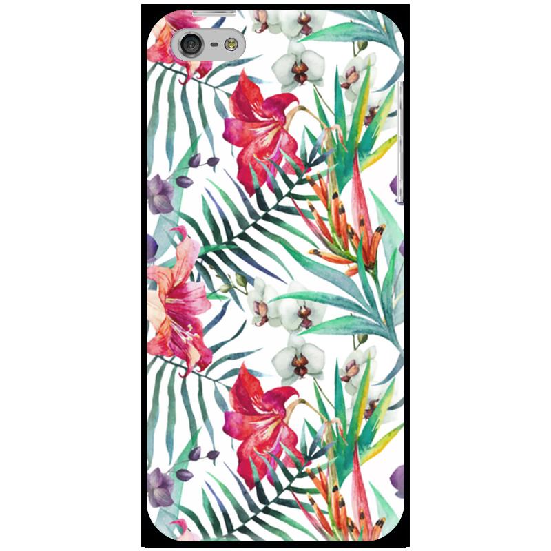 Чехол для iPhone 5 Printio Тропические цветы