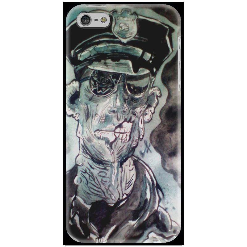 Чехол для iPhone 5 Printio Зомби полицейский центрполиграф полицейский