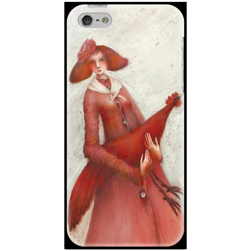 Чехол для iPhone 5 Printio Красный петух стоимость