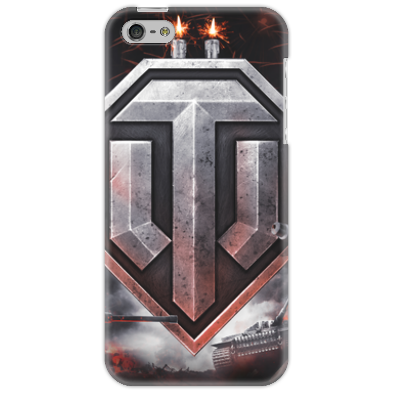 Чехол для iPhone 5 Printio Worlds of tanks a product of two worlds