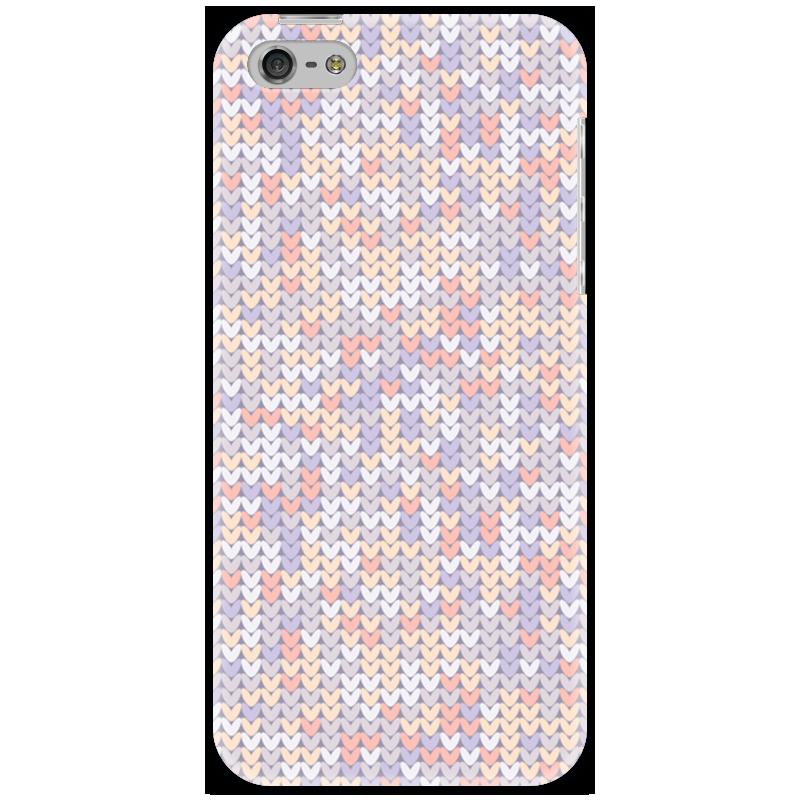 Чехол для iPhone 5 Printio Сиреневый вязаный узор
