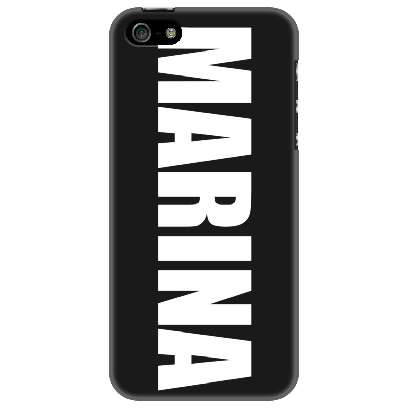 Чехол для iPhone 5 Printio С именем марина чехол для iphone 5 printio с именем ирина