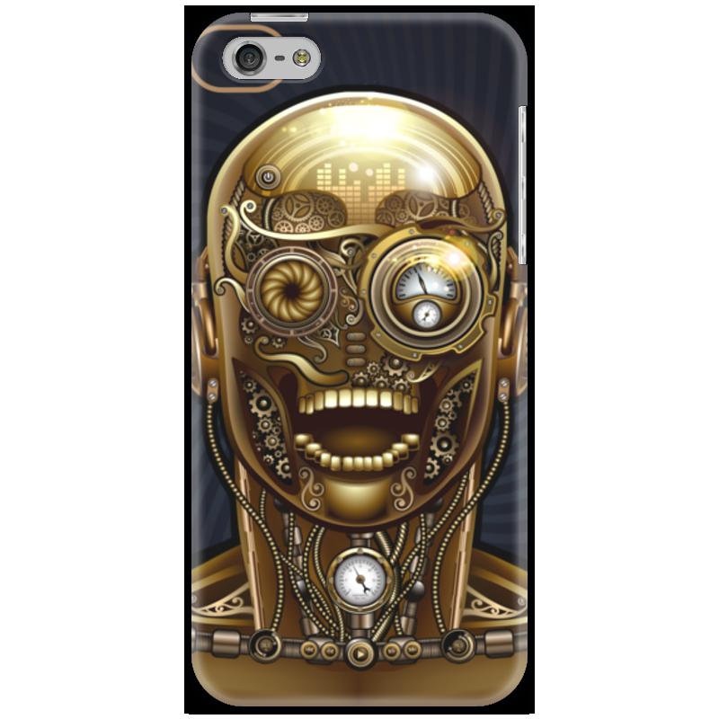 Чехол для iPhone 5 Printio Стимпанк-голова стоимость