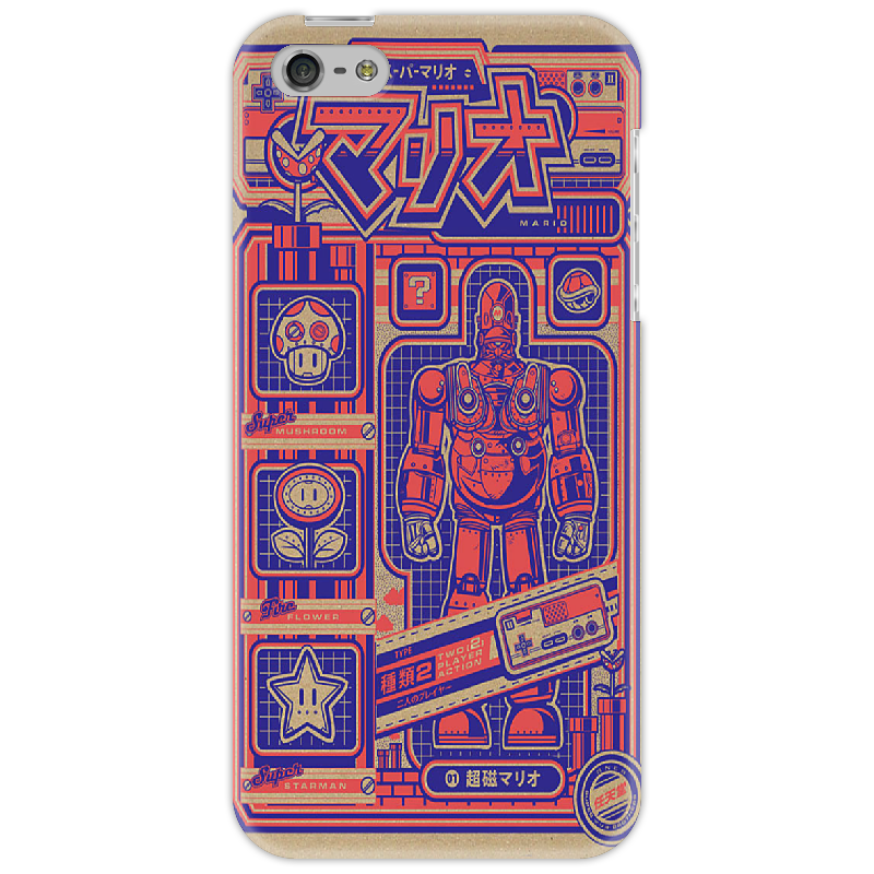 Чехол для iPhone 5 Printio Japanese robot 1000 japanese yen pattern money door stopper purple