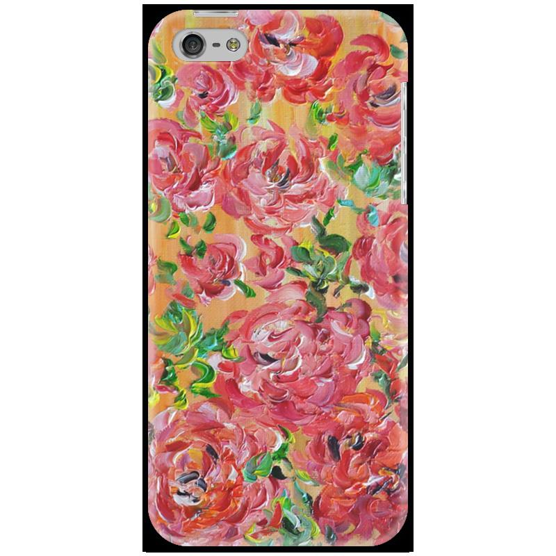 Чехол для iPhone 5 Printio Красные розы белоснежка набор для вышивания красные розы