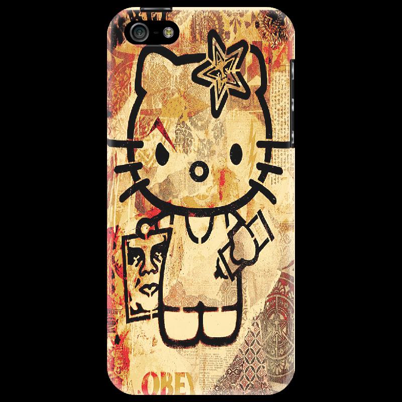 Чехол для iPhone 5 Printio Obey hello kitty