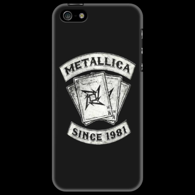 Чехол для iPhone 5 Printio «metallica: since 1981»